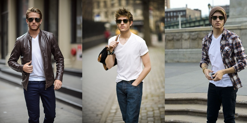 Cách phối áo thun với quần Jeans nam để chàng tự tin đi muôn nơi