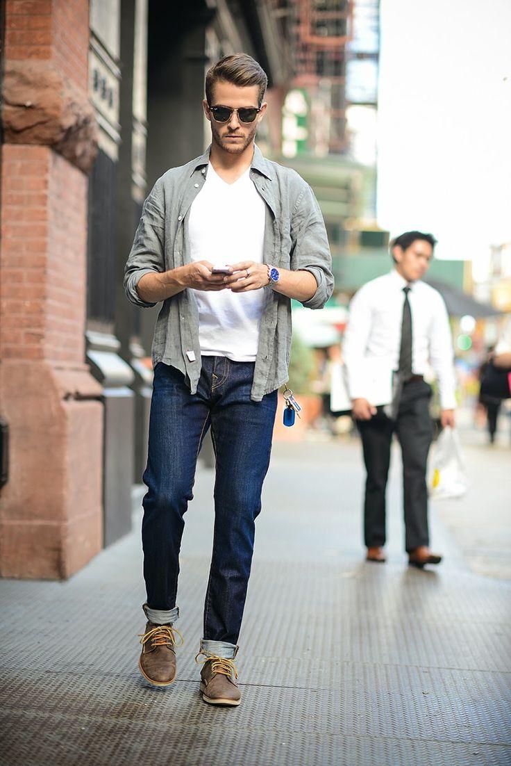 Cách phối áo thun với quần Jeans nam