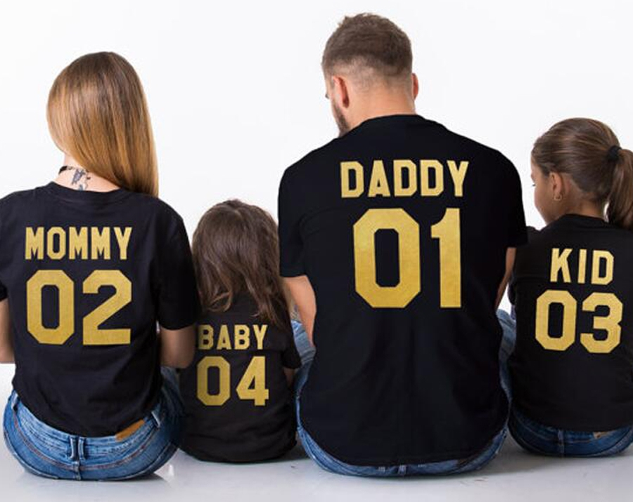 T-Shirt-Cotton-Women-font-b-Family-b-font-Summer-Harajuku-Fashion-Letter-Mommy-Daddy-Baby