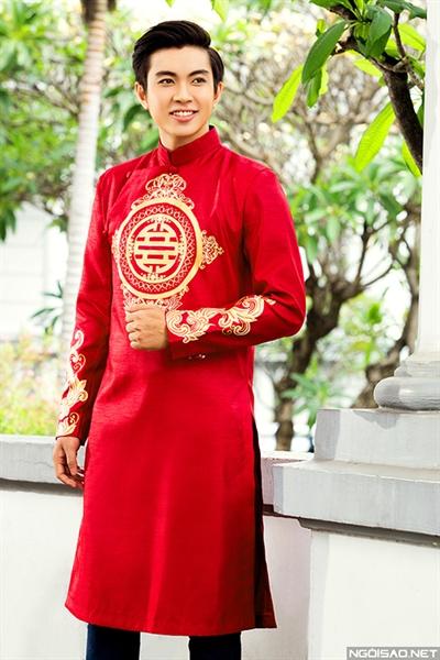 áo dài cưới cách tân cho chú rể