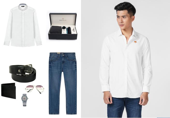 7 cách phối áo sơ mi với quần jeans nam cho chàng phong độ và lịch lãm hơn