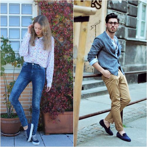 cách phối màu giày nam và nữ phù hợp với trang phục.