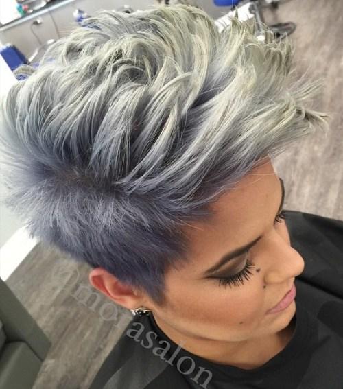 Kiểu tóc Mohican nhuộm Ombre
