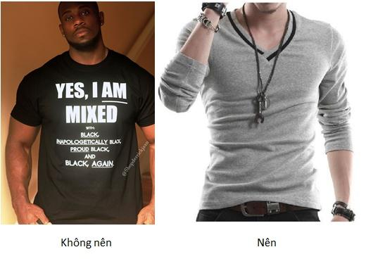 Áo thun (phông) nam cho người da ngăm đen
