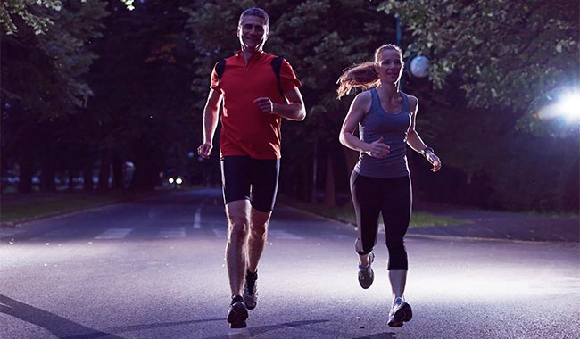 Chạy bộ vào buổi tối