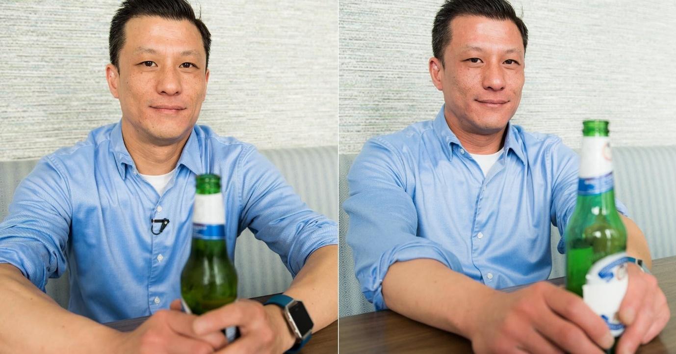 đỏ mặt khi uống rượu bia