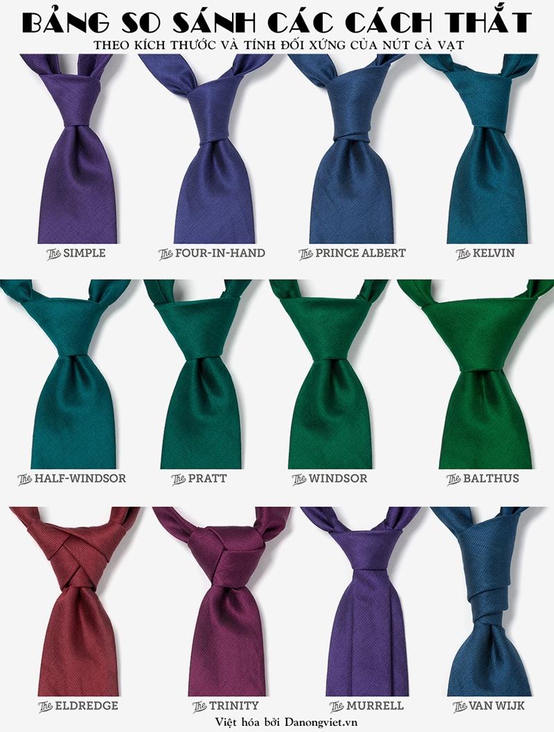 Các kiểu thắt cà vạt nam