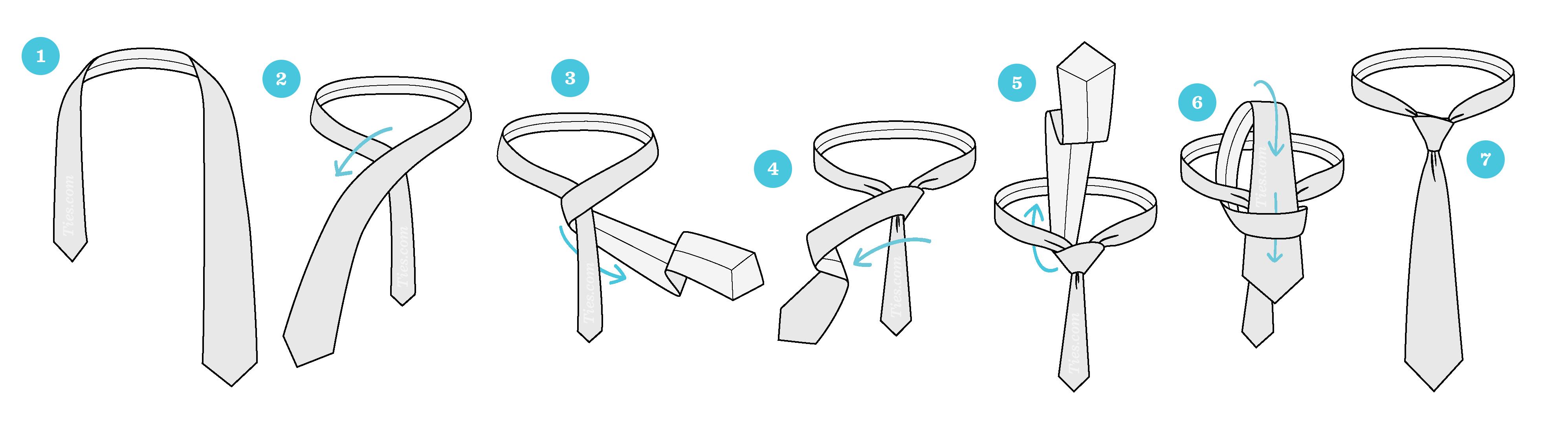 Cách thắt cà vạt kiểu Four-in-Hand