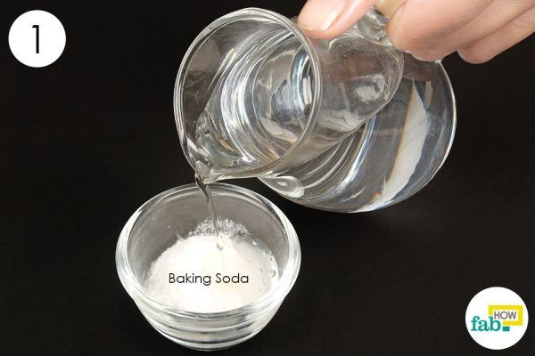 Sử dụng Baking Soda với Hydrogen Peroxide (Oxy già)