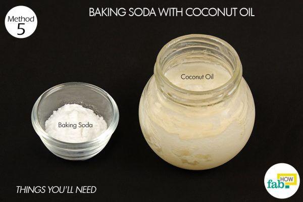 Sử dụng Baking Soda với Dầu dừa