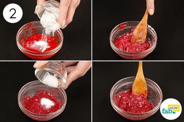 Sử dụng Baking Soda với Dâu tây và Muối