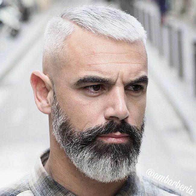 Tóc nam mặt vuộng