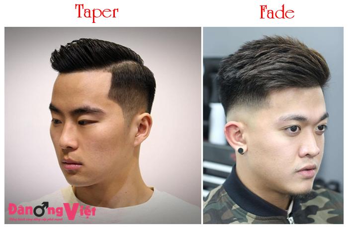 Tóc Taper và Tóc Fade