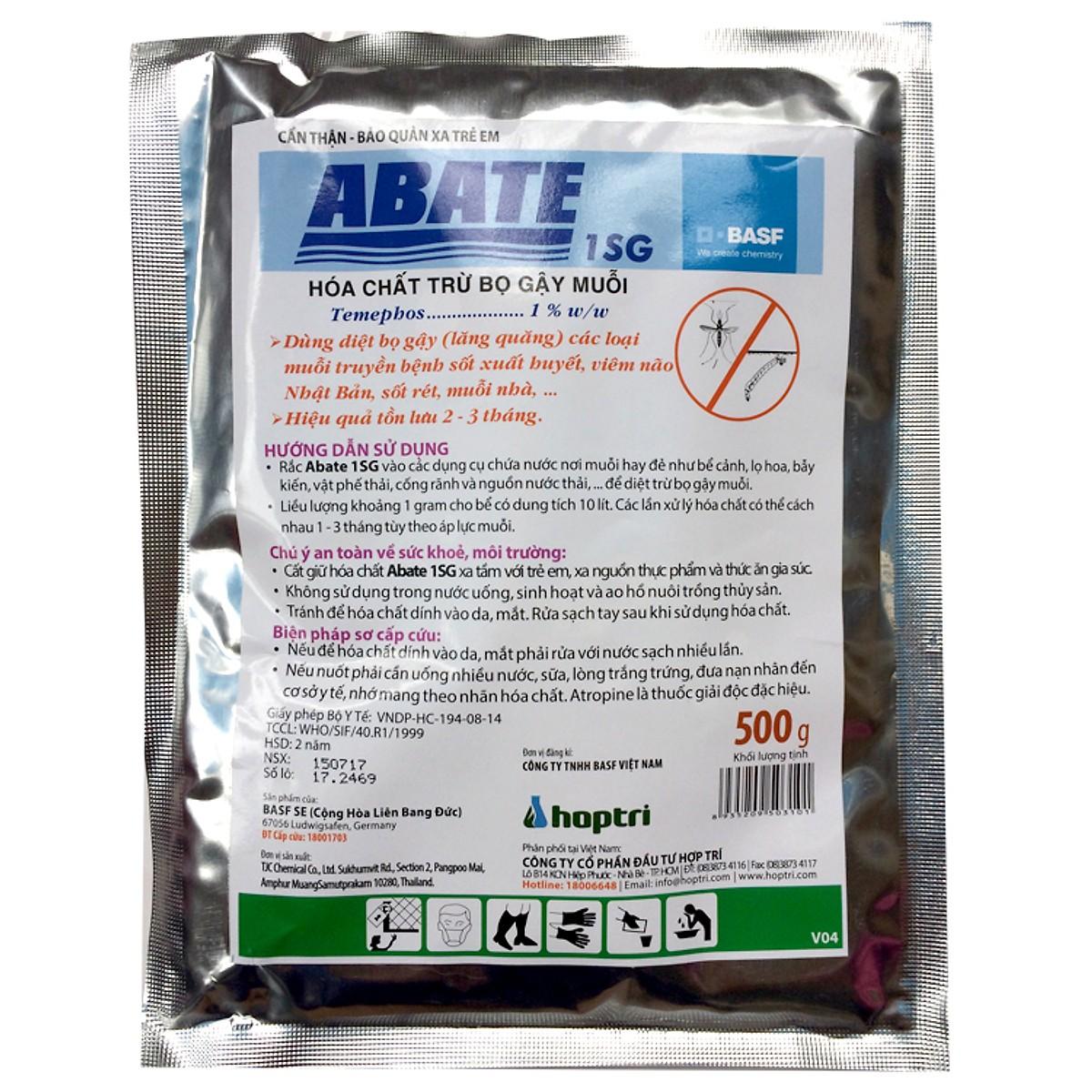 số loại thuốc diệt lăng quăng hiệu quả được nhiều người ưa chuộng là <em>ABATE 1SG