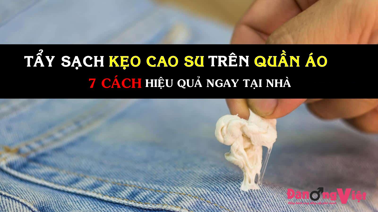 """""""Đánh bay"""" 100% vết kẹo cao su dính trên quần áo với 7 cách làm sạch SIÊU HIỆU QUẢ"""