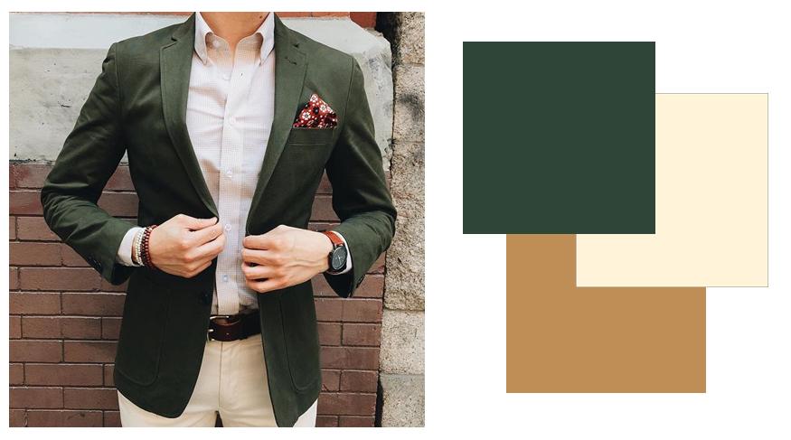 Ý tưởng mix & match quần áo màu xanh rêu cho nam