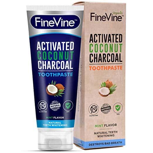 Kem đánh răng làm trắng răng FINEVINE CHARCOAL